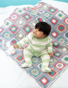 Yarnspirations.com - Bernat Color Wheels Blanket - Patterns | Yarnspirations