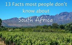 """South Africa is also known as the Rainbow Nation. Over the centuries different groups of people have entered South Africa to inhabit the area, making the country become """"one nation"""" with a great diversity of people, cultures and languages. South Africa Facts, South Afrika, Travel Humor, Funny Travel, African Safari, Continents, The Good Place, Fun Facts, Road Trip"""