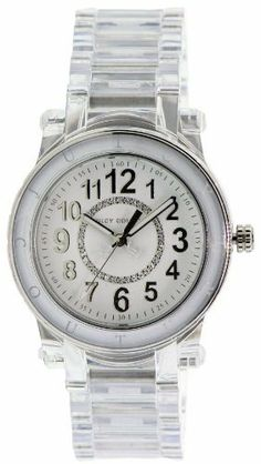 Juicy Couture Women Watch 1900903 HRH Collection Translucent Acrylic Bracelet White Round Dial Juicy Couture. $185.00. White dial. Quartz movement. clear plastic bracelet. Beautifully made by Movado
