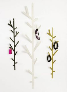 Twig hooks designed by Hive - small one Use the Twig coathook on its own or line up a few of them to create a forest. Perfect for gathering up all those bits and bobs that don't have a natural home. (Screws provided for wall mounting). #theCollection #Hive