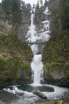Cascadas de Multinoma en invierno.