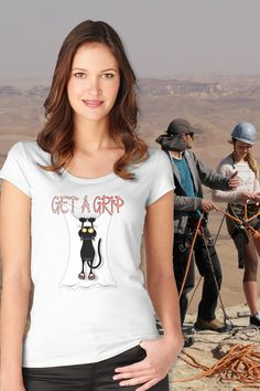 """""""Get a Grip."""" Remind yourself to take time for self-care and keep a positive attitude. Hang in there! #redbubble #findyourthing #motivationalquotes #wellness #selfcare #inspirationalquote #selfcaretips #positivethoughts #selflovequotes #shirts #tshirts Mother In Law Gifts, Gifts For Dad, Cute Tshirts, Cool Shirts, Get A Grip, Shirt Shop, T Shirt, Unique Gifts For Men, Kinds Of People"""
