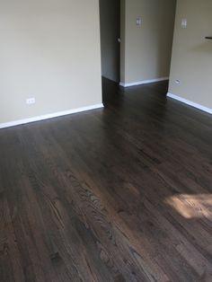 Ebony Dura Seal On Red Oak Refinishing Hardwood Floors Hardwood Floor Colors Flooring