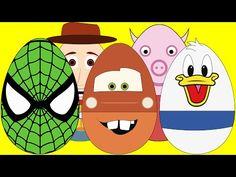 New Surprise Eggs For Kids - PJ Masks Catboy Gekko Owlette Peppa Pig Mickey Mouse - YouTube