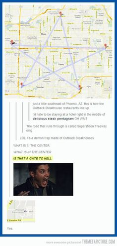 DON'T LET THE WINCHESTERS NEAR THERE YA IDJIT.