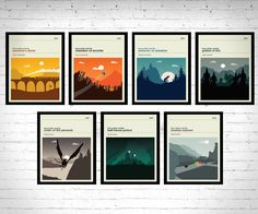 Harry Potter Movie Posters - Set of Prints, Movie Poster, Movie Print, Film Poster, Harry Potter Poster, Harry Potter Print by LawandMoore on Etsy https://www.etsy.com/listing/252230372/harry-potter-movie-posters-set-of-prints