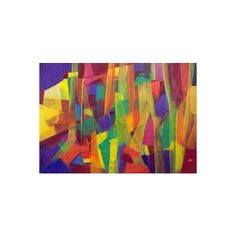 NOVICA Signed Original Abstract Art Painting in Tropical Tones ($605) ❤ liked on Polyvore featuring home, home decor, wall art, abstract paintings, paintings, vertical paintings, novica home decor, novica, novica paintings and vertical wall art