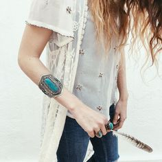 "Layer Boots en Instagram: "">> WATEGOS BRACELET << Now available this amazing Turquoise Bracelet!! <•> Ya a la venta esta maravilla de brazalete turquesa! Disponible en www.layerboots.com/shop  @layerboots #layerboots #turquoise #bracelet #wategos #accesories #complementos #boho #bohemian #gypsy #hippiechic #barcelona #crochet #denim #jewellery #authentic #treasures #feathers #love"""
