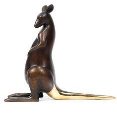 Loet Vanderveen modern bronze Kangaroo figure