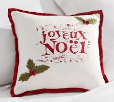 Joyeux Noel Pillow Cover | Pottery Barn