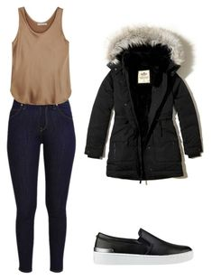 """""""outfits para la universidad"""" by paola-oliveros on Polyvore featuring Vince, GUESS and Hollister Co."""
