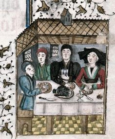 Medieval dinner party: 2 ways Marseille, Bibl. mun., ms. 0112