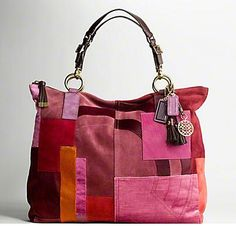 I'm still on the search for a multicolored bag...this one is not truly a hit...too many pink hues.