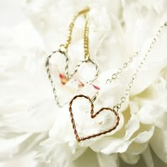 Make a cute and delicate wire heart necklace or bracelet. For beginners or anyone!      Add a few beads, JH