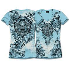"Pastels too! S/S MOSAIC FLEUR DE LIS Shirt $28.00 + FREE shipping when you enter the coupon code ""PINTEREST"" during online checkout. #fleurdelis #LSU #LA #madeinusa #fashion"