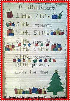 Christmas Math & Counting Activities: Little Miss Kindergarten - Lessons from the Little Red Schoolhouse!