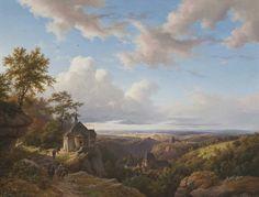 """Paysage d'Eifel avec petite église"" de Barend Cornelis Koekkoek"