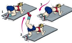 Exercício com 4 apoios ajuda a fortalecer glúteos flácidos e caídos