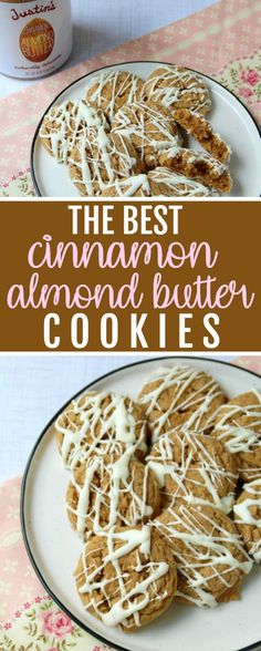 I'm obsessed with cinnamon almond butter these days. I usually spread it on apple slices these Cinnamon Almond Butter Cookies are THE BEST! Cinnamon Cookies, Cinnamon Almonds, Yummy Cookies, Almond Butter Cookies, Salted Butter, Delicious Desserts, Dessert Recipes, Yummy Food, Cookies Ingredients