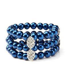 bracelet à 3 rangs et fleur en métal