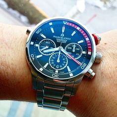 """""""Did you know the Pontos S comes with a matching NATO strap and a steel bracelet? #MLonMyWrist"""""""