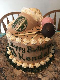 32 Brilliant Picture of Starbucks Birthday Cake 12th Birthday Cake, Birthday Cakes For Teens, Birthday Ideas, Birthday Star, Happy Birthday, Teen Cakes, Girl Cakes, Starbucks Birthday Party, Starbucks Wedding