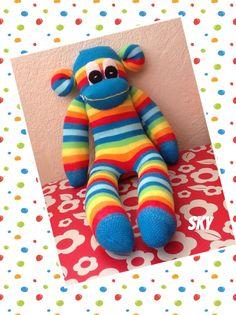 Sky handmade sock monkey by sunnyteddys designs