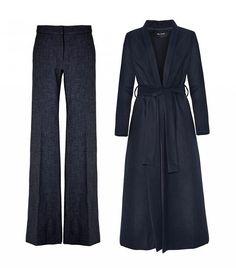 Tibi Tropical Wool Flared Pants, The Fifth Navy Instrumental Wrap Coat