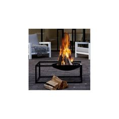 Slide Steel Wood Fire Pit