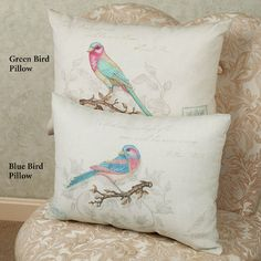 Climaweave Vintage Bird Indoor Outdoor Pillows