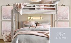 Laguna Loft Bedroom | RH TEEN Bedroom Loft, Teen Bedroom, Rh Teen, Rug Sale, Window Coverings, Home Accessories, New Homes, Room Decor, Interior Design