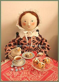 Tasha Tudor Hot Cross Buns for Easter Tea