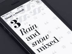 weather application animatione ui typography iphone
