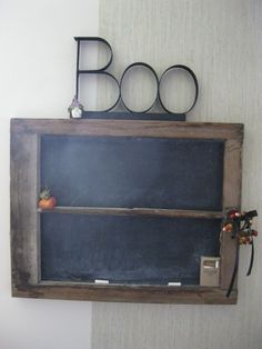 Old window ~ chalk board ~ Halloween