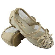 Kids Ballet Flats Studded Toe Cap Mesh Lace Casual Slip On Shoes Tan Ballet Kids, Casual Slip On Shoes, Girls Flats, Lace Bows, Ballet Flats, Wedges, Cap, Sandals, Mesh