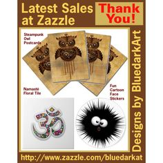 ☀ Latest #Sales at #Zazzle ☀ Thank You! by #BluedarkArt  https://bluedarkart.wordpress.com/2015/06/13/latest-sales-at-zazzle-%e2%98%80-thank-you