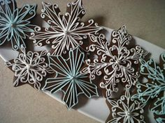 Love these snowflakes by Daily Cookie