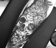 Skull tattoo by Fredao Oliveira