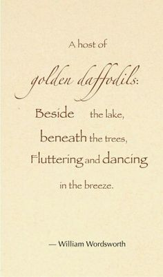William Wordsworth was born on April 7th.