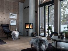 Nyoppført, lekker hytte levert av Sjemmdalhytta | FINN.no Italy House, Dream House Exterior, Small House Plans, Home Fashion, New Homes, Cottage, House Design, Cabin, Interior Design