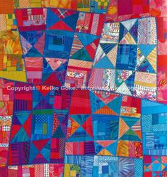 Keiko Goke - a famous Japanese quilter with her own version of an OHIO Star!  I love it.