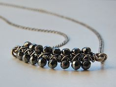 Smile Necklace Hematite by MarieCarter on Etsy, $49.00