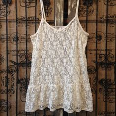 """Selling this """"Boho Lace Camisole Tank Top Ivory Nordstrom"""" in my Poshmark closet! My username is: decodizzy. #shopmycloset #poshmark #fashion #shopping #style #forsale #Frenchi #Tops"""