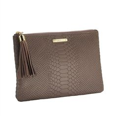Taupe All in One Bag | Embossed Python Leather | GiGi New York