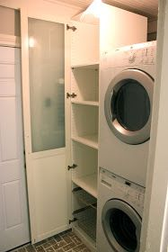 Stacked washer dryer with ikea pax