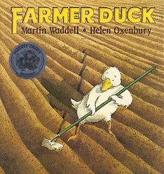 Farmer Duck isn't your average duck. This duck cooks and cleans, tends the fields, and cares for the other animals on the farm--all because the owner of the farm is too lazy to do these things himself. But when Farmer Duck finallly collapses from exhaustion, the farmyard animals come to the rescue with a simple but heroic plan. Big Book 9781564029645 Ages 3-8, GRL K #commoncore