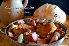 Cuisses de canard confites aux lentilles vertes du Puy | Petits Plats Entre Amis