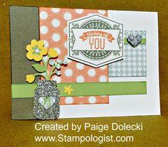Paige Dolecki - Stampologist: August Stamp of the Month Blog Hop - Framed