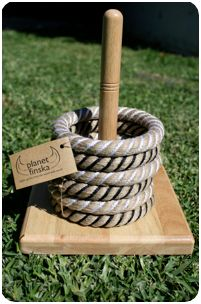 rope quoits - games in the garden