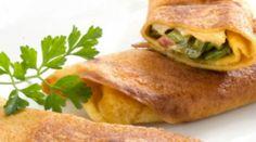 Cocina Vegetariana: Crepas de pimiento verde con queso